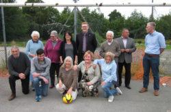 Kiveton team at the new sports venue
