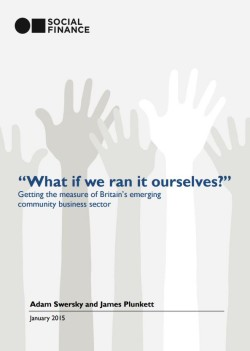 What if we ran it ourselves? Community business