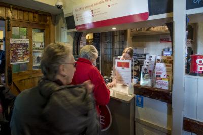 Post office in Bamford's community pub